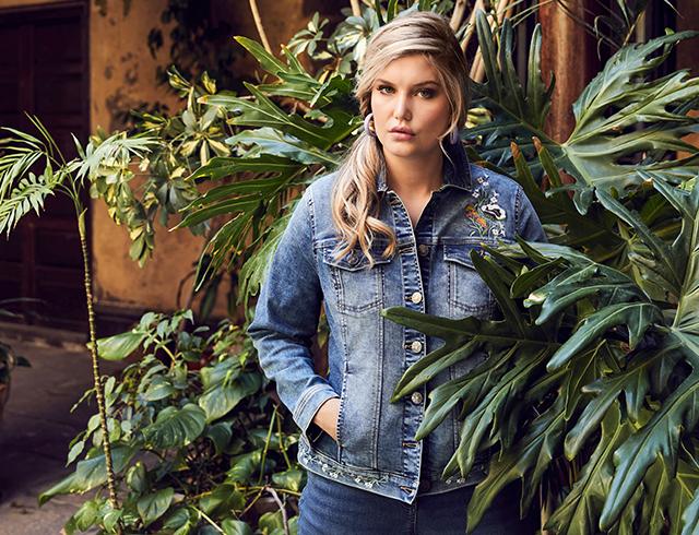 Ulla Popken Womens Plus Size Fleece Jacket 727756